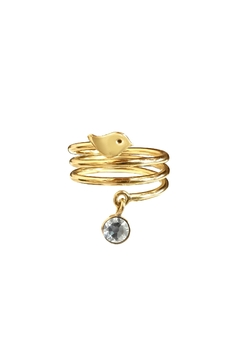 Cuca y Paloma Espiral White Ring - Product List Image