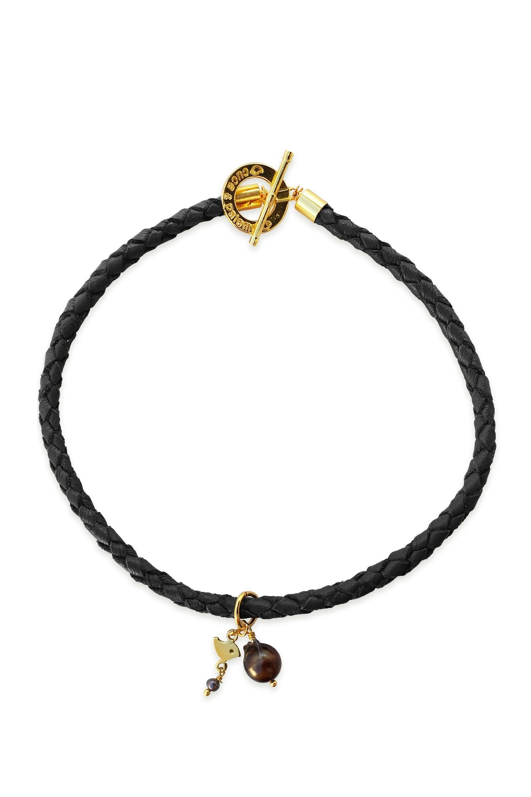 Cuca y Paloma Leona Black Choker - Front Cropped Image