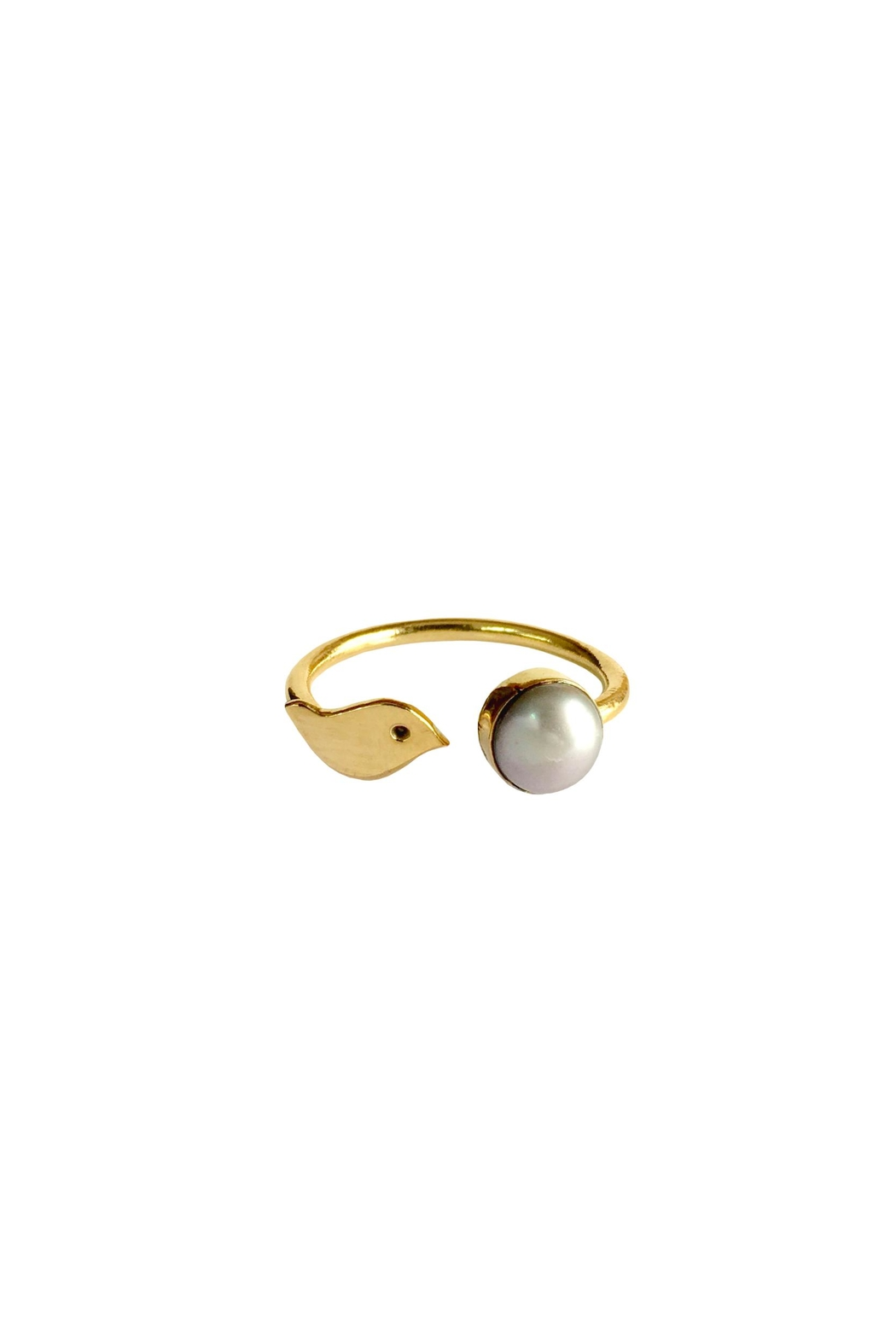 Cuca y Paloma Oriana White Ring - Front Cropped Image