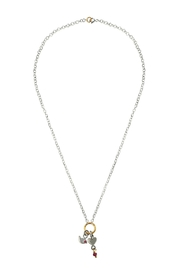 Cuca y Paloma Rubi Heart Necklace - Front cropped