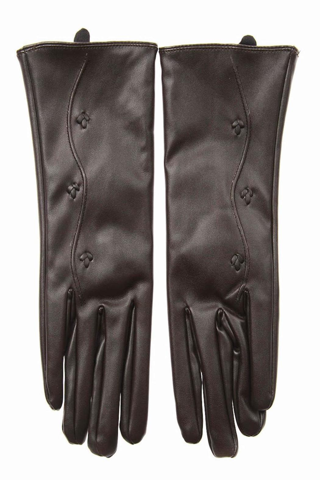 Cuccia Italia Brown Leather Gloves - Side Cropped Image