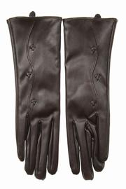 Cuccia Italia Brown Leather Gloves - Side cropped