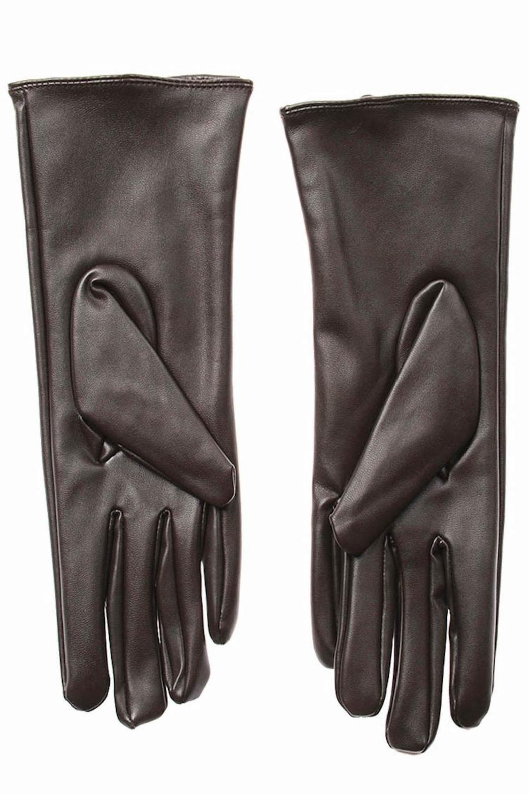 Cuccia Italia Brown Leather Gloves - Front Full Image
