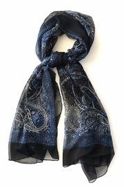 Cuccia Italia French Paisley Silk-Scarf - Front cropped