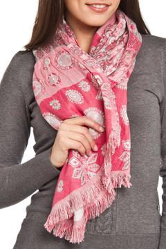 Shoptiques Product: Pink Silk Picasso Scarf