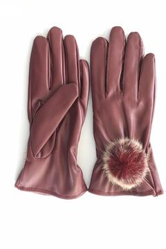 Cuccia Italia Red Fur Leather Gloves - Product List Image