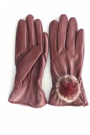 Cuccia Italia Red Fur Leather Gloves - Product Mini Image