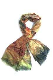 Cuccia Italia Rumi Poetry Scarf - Front cropped