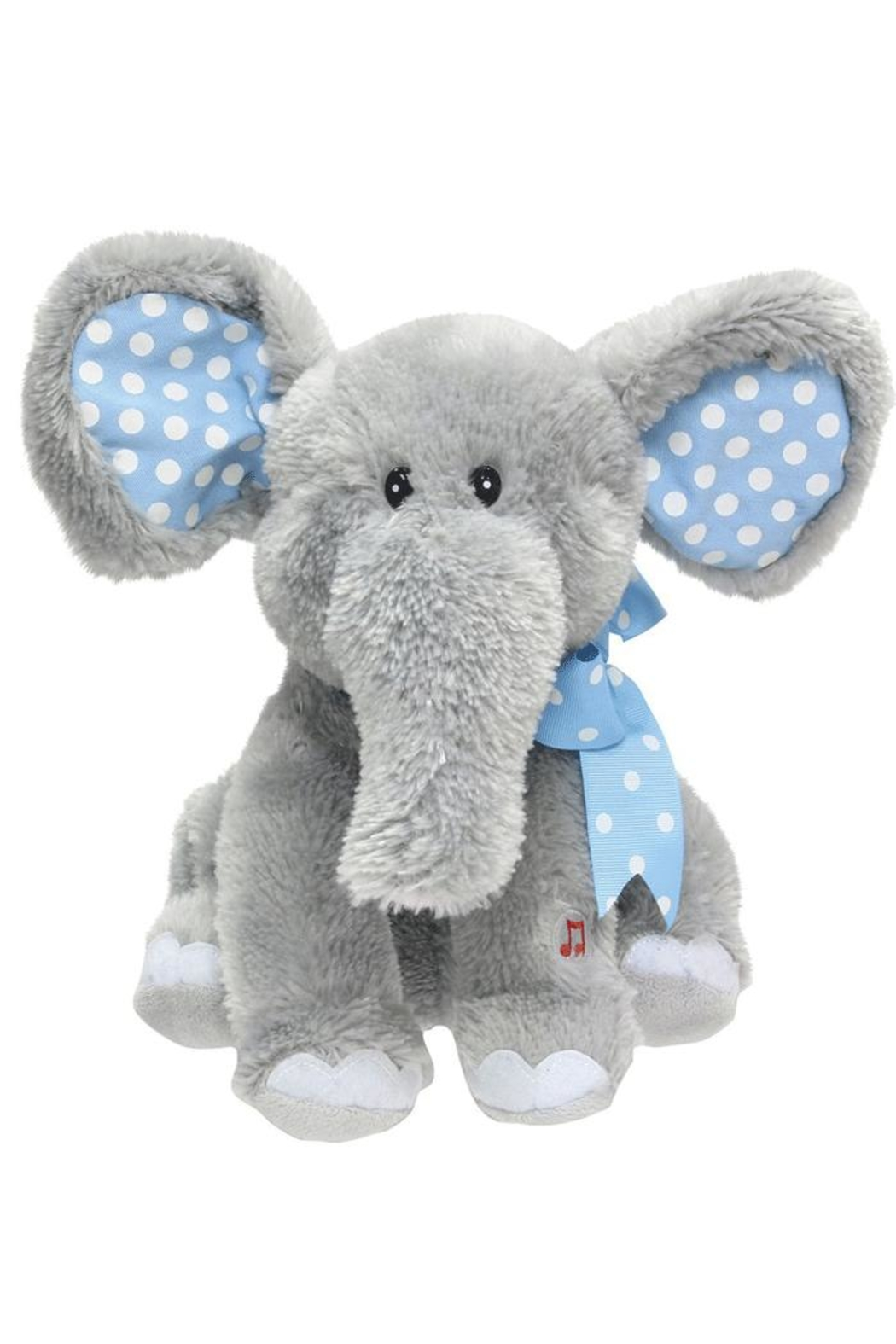Cuddle-Barn Musical Stuffed Elephant - Front Cropped Image