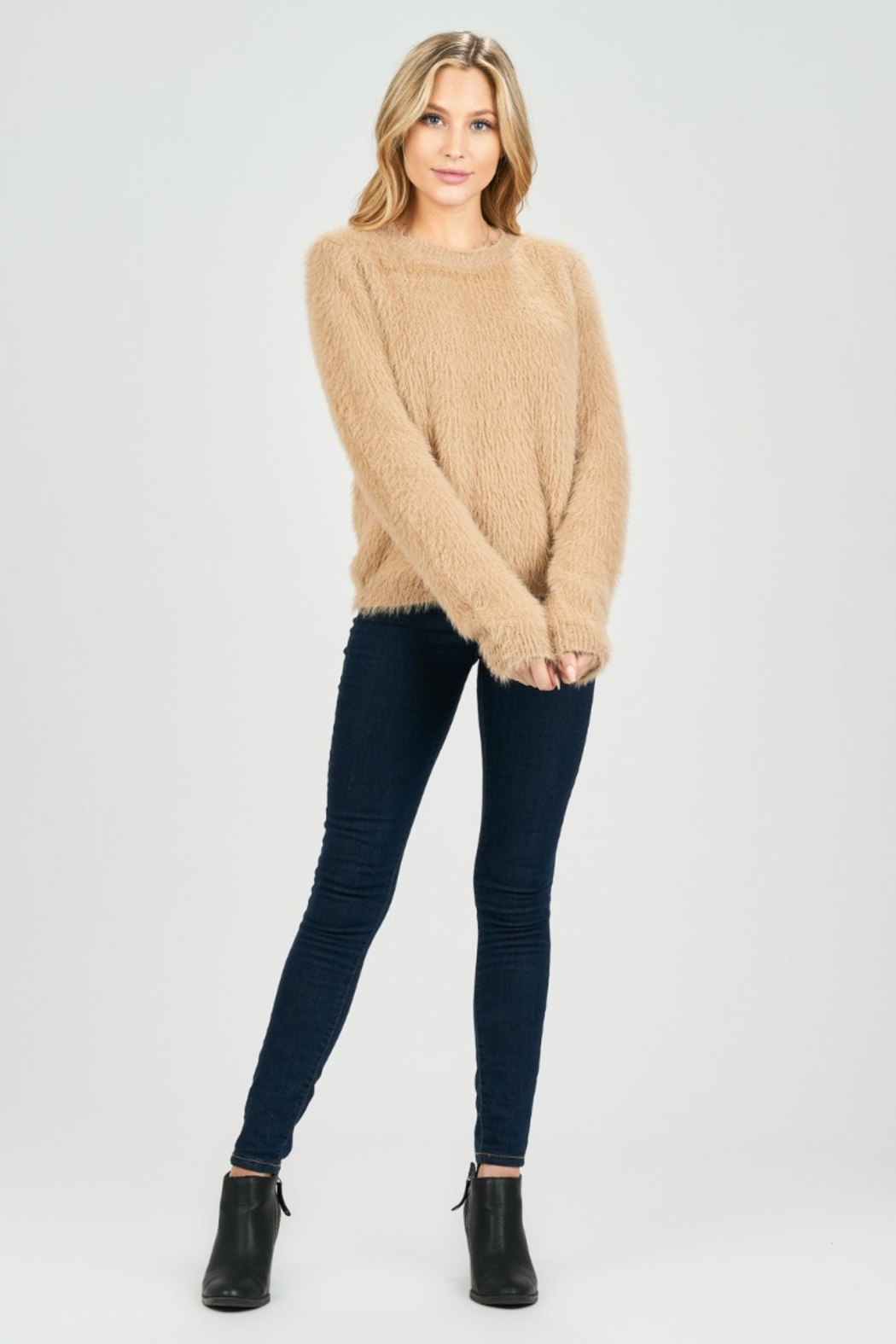 BLANC CUDDLES SWEATER - Front Cropped Image