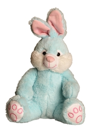 Cuddles and Friends Blue Plush Bunny - Product Mini Image