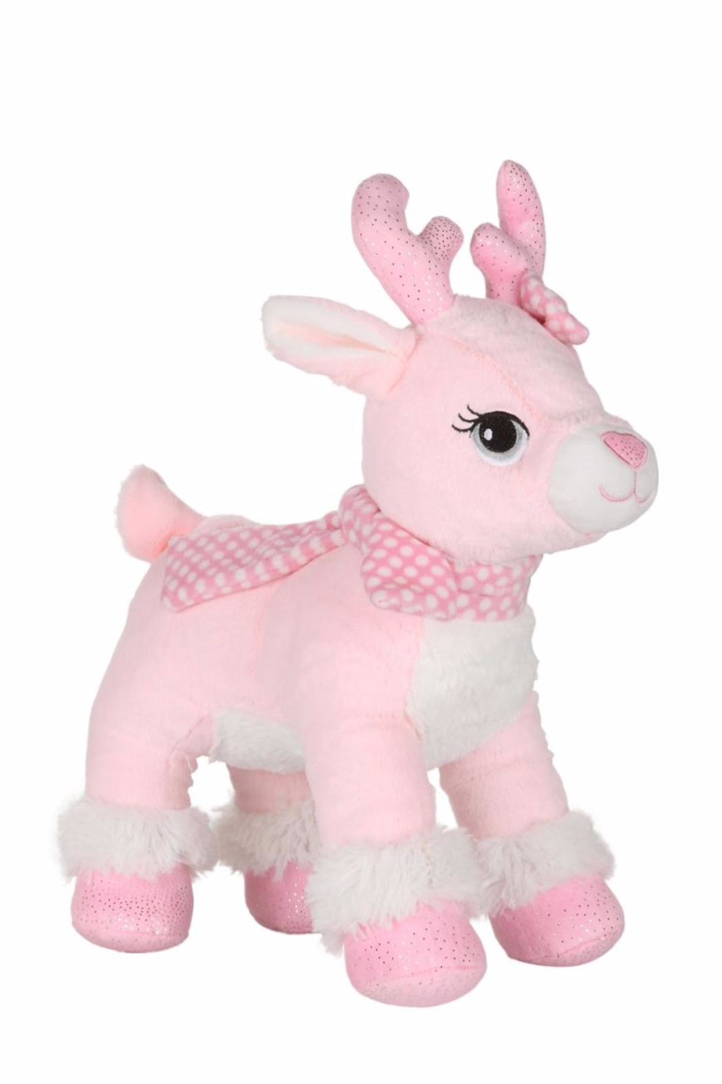 Cuddles and Friends Plush Pink Reindeer - Main Image