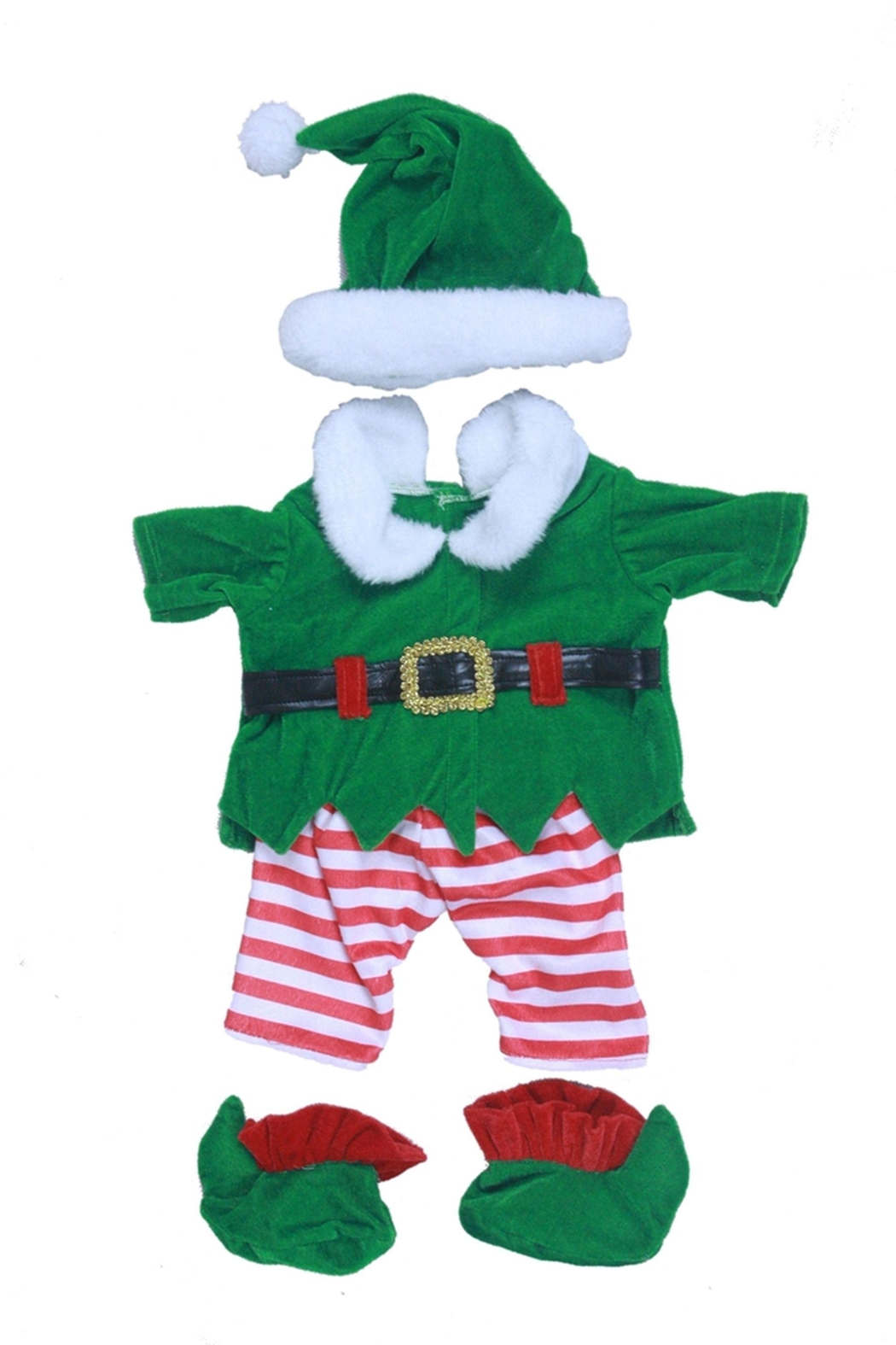 Cuddles and Friends Teddy Elf Costume - Front Full Image