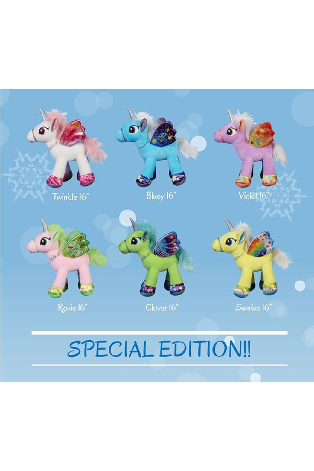 Cuddles and Friends Unicorn Party Pack for 6 - Main Image
