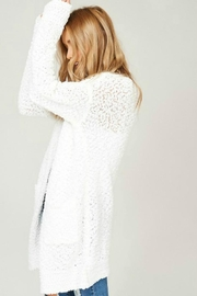 Listicle Cuddly Popcorn Cardigan - Front full body