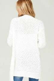 Listicle Cuddly Popcorn Cardigan - Side cropped
