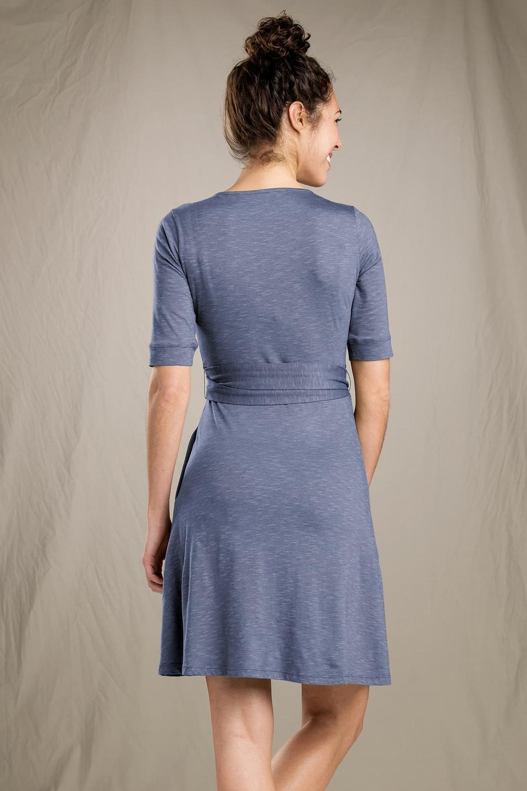 Toad & Co. Cue Wrap-Cafe Dress - Side Cropped Image