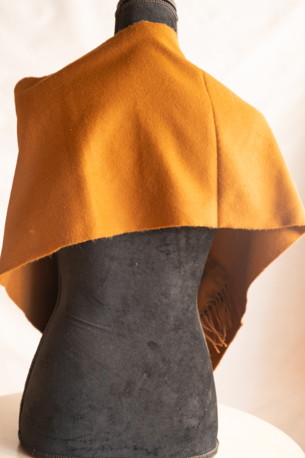 Handmade by CA artist Cuffed Cashmere - Back Cropped Image