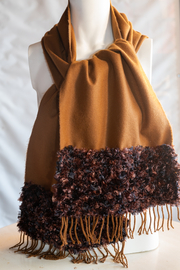 Handmade by CA artist 100% Cashmere with Knit Scarf - Product Mini Image