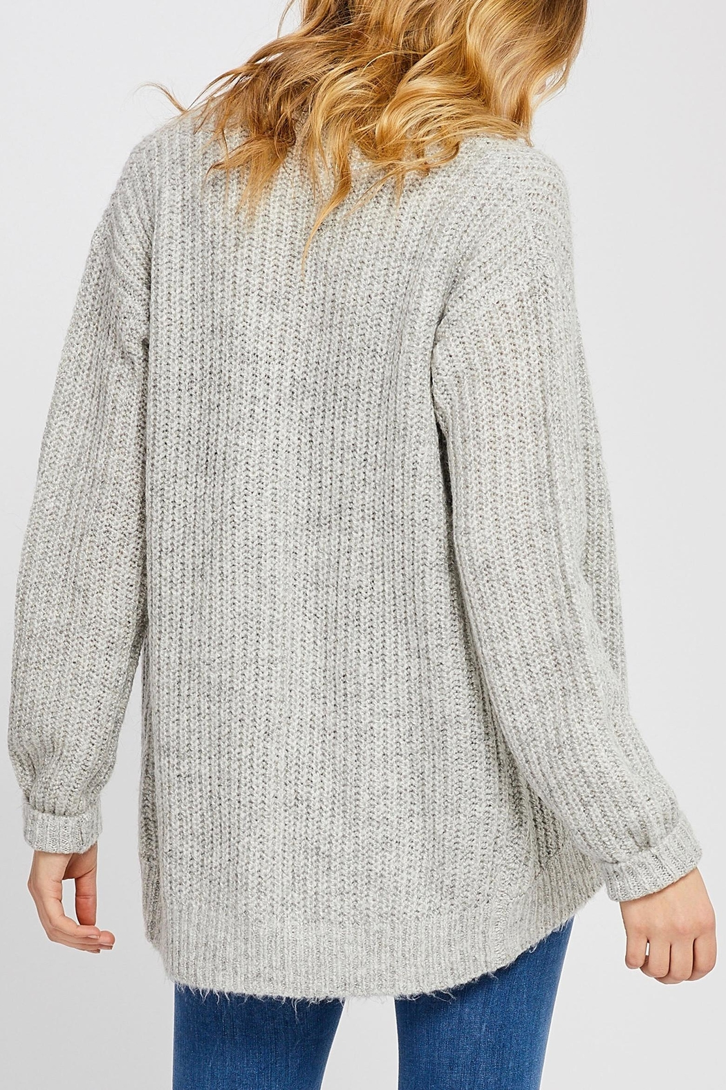 Gentle Fawn Cuffed Cocoon Cardigan - Side Cropped Image