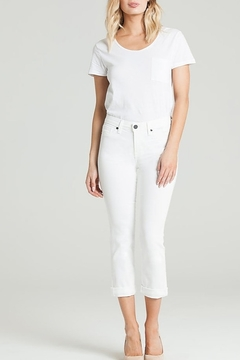 Parker Smith CUFFED CROP WHITE JEAN - Product List Image