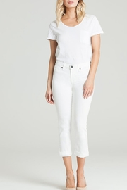 Parker Smith CUFFED CROP WHITE JEAN - Product Mini Image