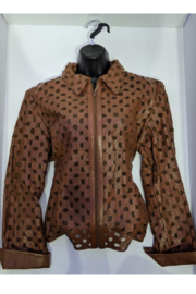 Natto Cuffed Laser Cut Jacket - Front cropped