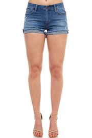 just black Cuffed Side-Seam Shorts - Product Mini Image