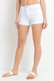 Just USA Cuffed White Short - Front full body