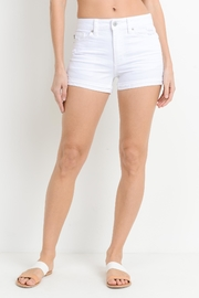 Just USA Cuffed White Short - Front cropped