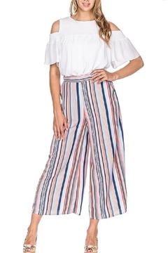 Joy Joy Culotte Striped Pants - Alternate List Image