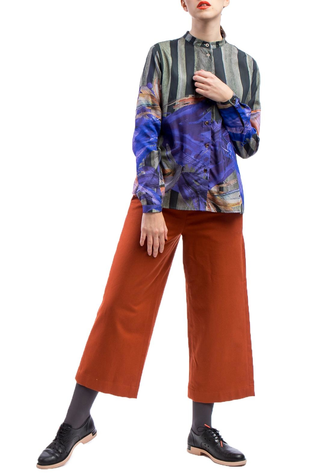 Clara Kaesdorf Culottes Red Cashmere - Front Full Image