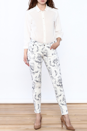 Cult of Individuality White Teaser Skinny Pants - Front full body