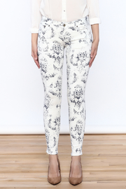 Cult of Individuality White Teaser Skinny Pants - Side cropped