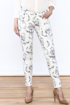 Cult of Individuality White Teaser Skinny Pants - Product List Image