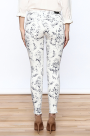 Cult of Individuality White Teaser Skinny Pants - Back cropped