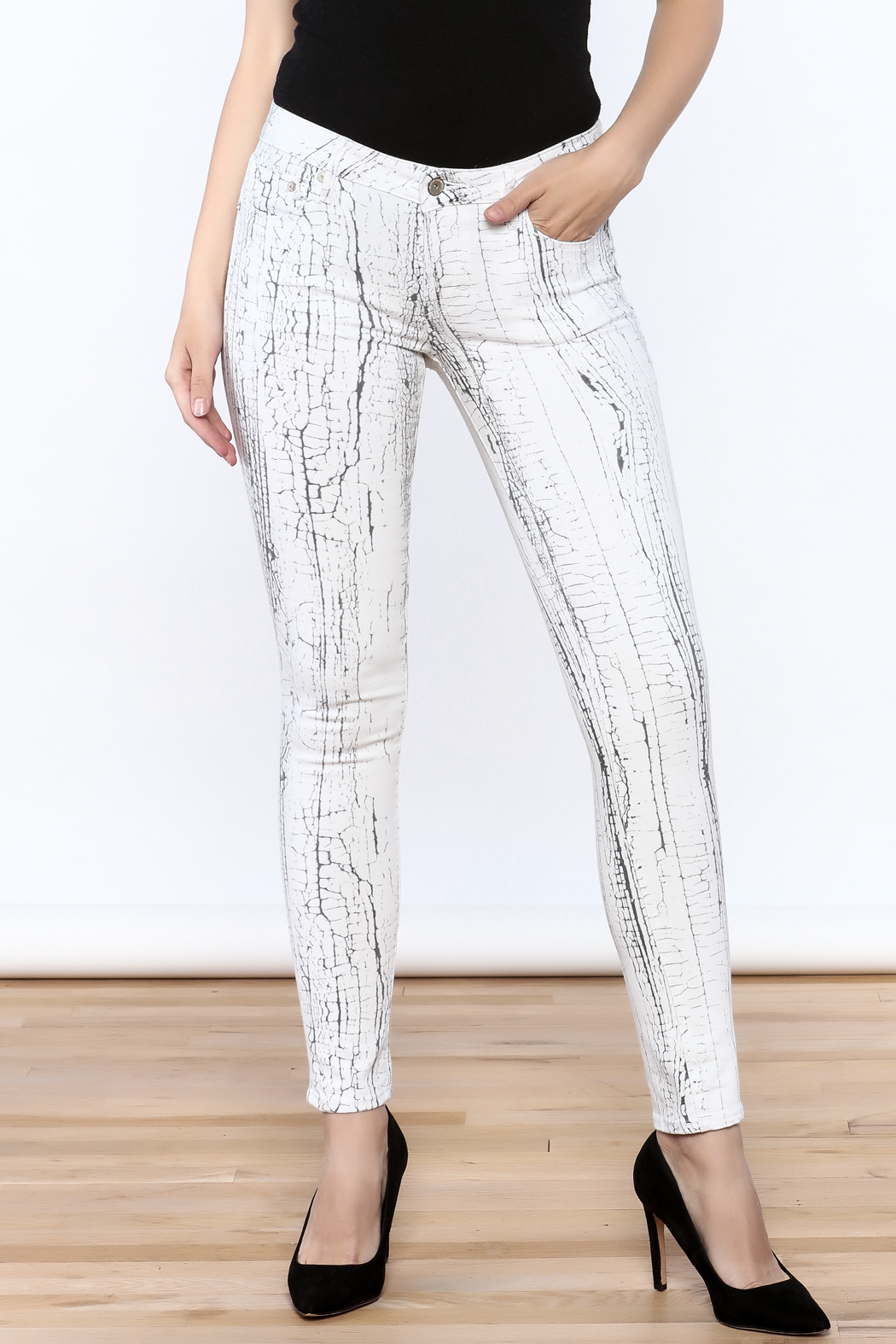 Cult of Individuality White Crackle Pants - Main Image