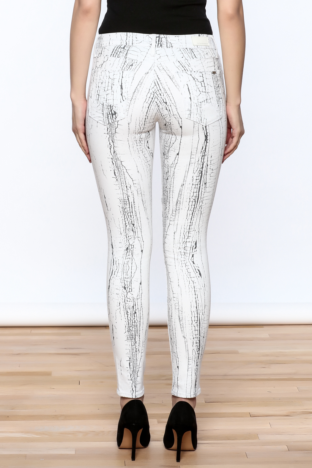 Cult of Individuality White Crackle Pants - Back Cropped Image