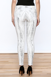 Cult of Individuality White Crackle Pants - Back cropped