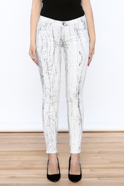 Cult of Individuality White Crackle Pants - Side cropped