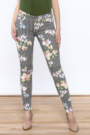 Cult of Individuality Zen Floral Skinny Pants - Front cropped
