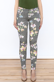 Cult of Individuality Zen Floral Skinny Pants - Side cropped