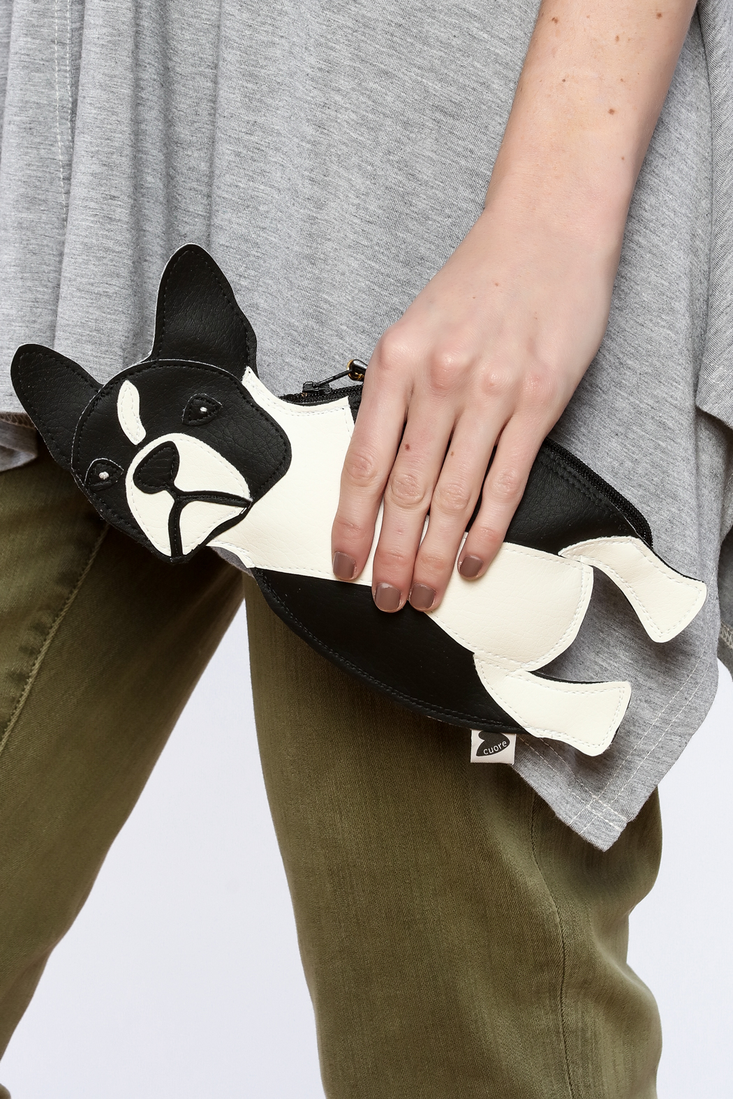 Cuore Boston Terrier Clutch - Back Cropped Image