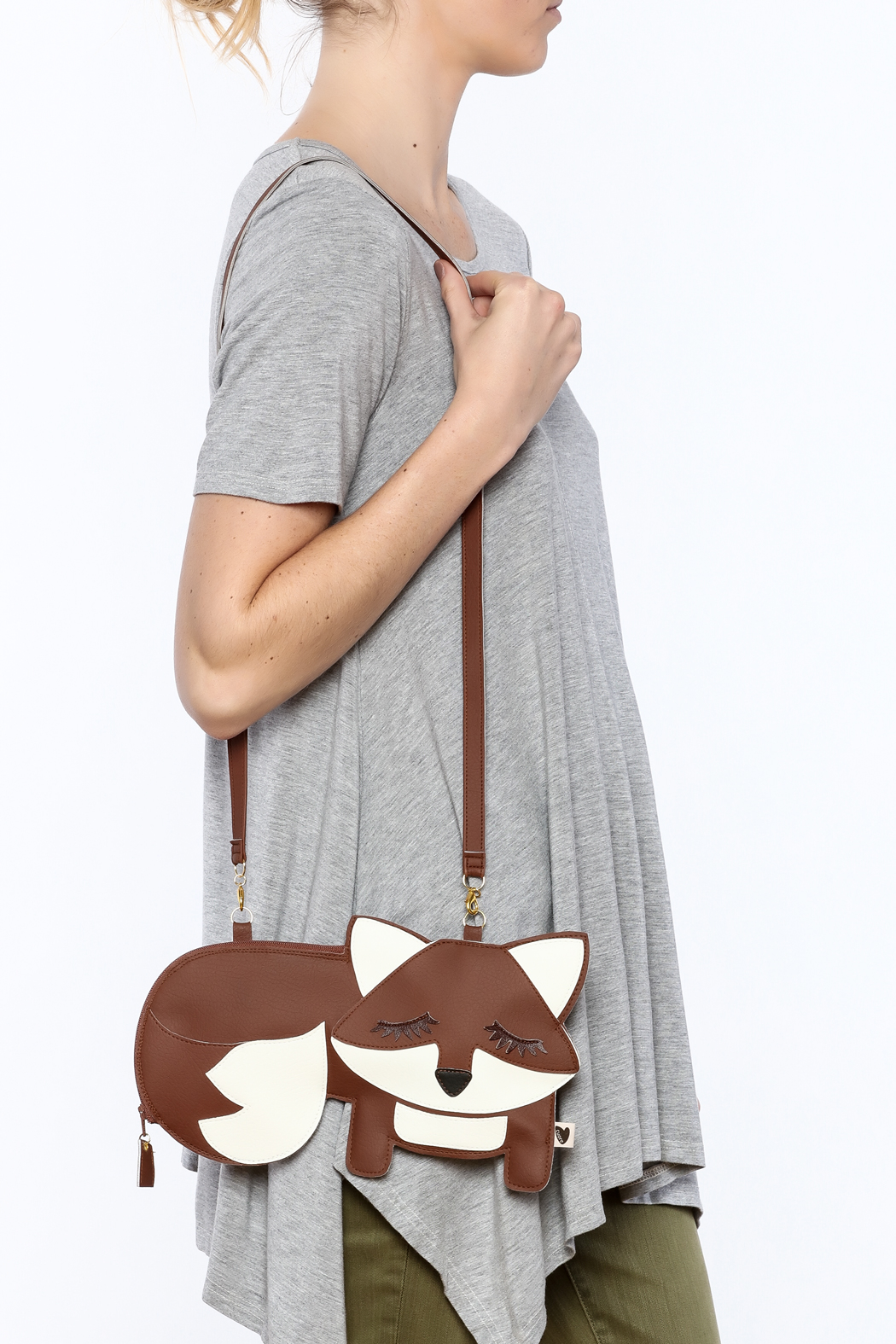 Cuore Brown Fox Purse - Back Cropped Image