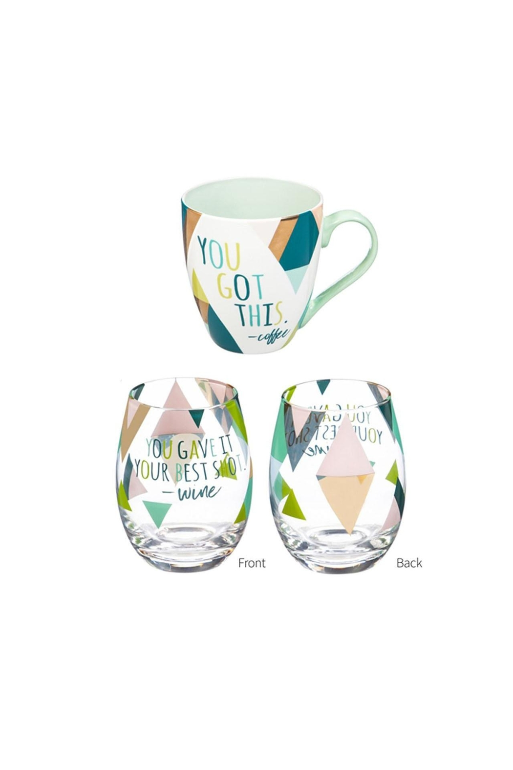 Evergreen Enterprises Cup/stemless Wine Giftset - Main Image