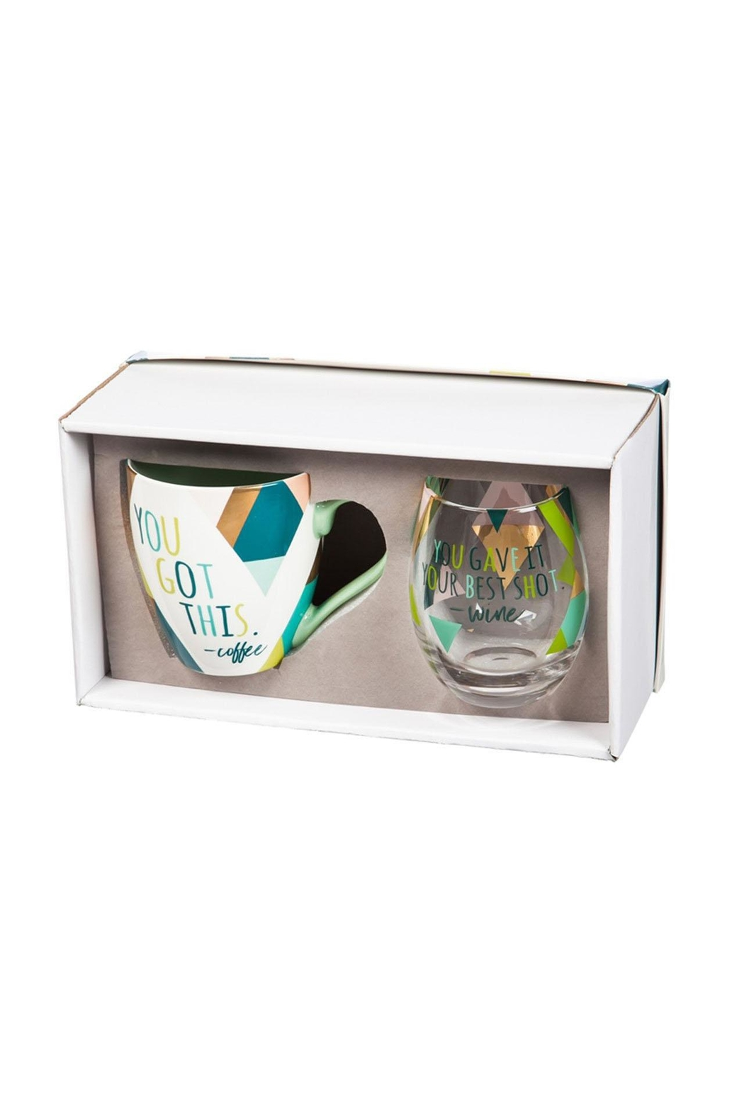 Evergreen Enterprises Cup/stemless Wine Giftset - Front Full Image