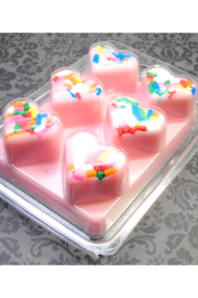 Chubby Chico Charms  Cupcake heart shaped sprinkles Wax Melts - Product Mini Image