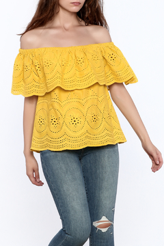 Cupcakes & Cashmere Davy Eyelet Off Shoulder Top - Product List Image