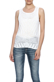 Cupcakes & Cashmere Drop Needle Sweater Tank - Front cropped