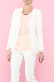 Cupcakes & Cashmere Fitted Lace Blazer - Product Mini Image